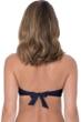Profile by Gottex Tutti Frutti Black Bandeau Strapless Twist Front Bikini Top