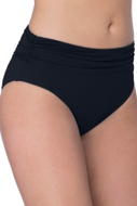 Profile by Gottex Tutti Frutti Black Shirred Tankini Bottom