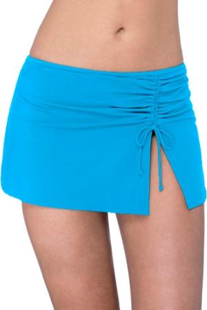Profile by Gottex Tutti Frutti Peacock Side Slit Cinch Swim Skirt