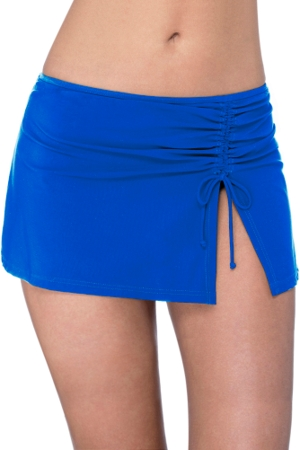 Profile by Gottex Tutti Frutti Sapphire Side Slit Cinch Swim Skirt