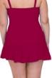 Profile by Gottex Tutti Frutti Ruby Plus Size Side Slit Cinch Swim Skirt