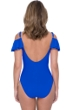 Profile by Gottex Tutti Frutti Sapphire Off the Shoulder Ruffle One Piece Swimsuit