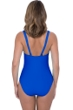 Profile by Gottex Tutti Frutti Sapphire V-Neck Shirred One Piece Swimsuit