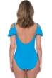 Profile by Gottex Tutti Frutti Peacock D-Cup Off the Shoulder Ruffle One Piece Swimsuit