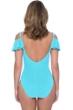 Profile by Gottex Tutti Frutti Aqua D-Cup Off the Shoulder Ruffle One Piece Swimsuit