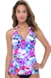 Profile by Gottex Pocket Full of Posies V-Neck Halter Cross Over Tankini Top