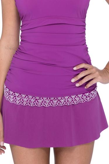 Profile by Gottex Love'n Lace Plum Swim Skirt
