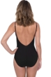 Profile by Gottex Love'n Lace Black V-Neck One Piece Swimsuit
