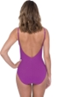 Profile by Gottex Love'n Lace Plum V-Neck One Piece Swimsuit