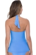 Profile by Gottex Ribbons Bondi Blue V-Neck Halter Tankini Top