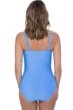 Profile by Gottex Ribbons Bondi Blue D-Cup Scoop Neck Shirred Underwire One Piece Swimsuit
