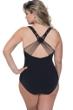 Profile by Gottex Fishnet Black Plus Size Scoop Neck One Piece Swimsuit