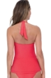 Profile by Gottex Ribbons Coral Textured V-Neck Halter Tankini Top