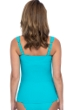 Profile by Gottex Ribbons Turquoise Textured D-Cup Scoop Neck Shirred Underwire Tankini Top