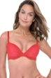 Profile by Gottex Ribbons Coral Textured D-Cup Push Up Underwire Bikini Top