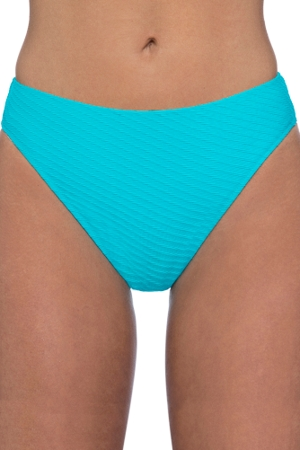 Profile by Gottex Ribbons Turquoise Textured Hipster Tankini Bottom
