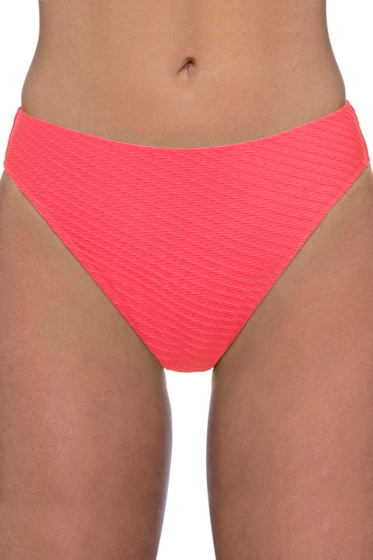 Profile by Gottex Ribbons Coral Textured Hipster Tankini Bottom