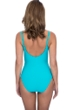 Profile by Gottex Ribbons Turquoise Textured V-Neck Lingerie Surplice One Piece Swimsuit