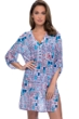 Profile by Gottex Tangier V-Neck Button Up Long Sleeve Mesh Tunic Cover Up