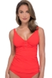 Profile by Gottex Moto Tangerine D-Cup V-Neck Tankini Top