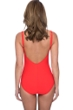Profile by Gottex Moto Tangerine V-Neck Shirred Underwire One Piece Swimsuit