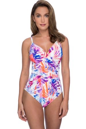 Profile by Gottex Sanibel V-Neck Lingerie Surplice One Piece Swimsuit