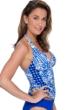 Profile by Gottex Diamond Batik V-Neck Halter Tankini Top