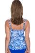 Profile by Gottex Diamond Batik E-Cup Scoop Neck Shirred Underwire Tankini Top