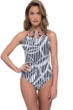Profile by Gottex Bamboo Bandeau Strapless One Piece Swimsuit