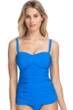 Profile by Gottex Tutti Frutti Blue Sweetheart Bandeau Tankini Top