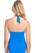 Profile by Gottex Tutti Frutti Blue Halter Underwire Tankini Top
