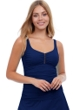 Profile by Gottex Tutti Frutti Navy Scoop Neck Shirred Tankini Top