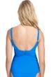 Profile by Gottex Tutti Frutti Blue Scoop Neck Shirred Tankini Top