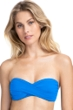 Profile by Gottex Tutti Frutti Blue Bandeau Strapless Twist Front Bikini Top