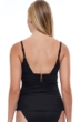 Profile by Gottex Tutti Frutti Black V-Neck Shirred Tankini Top