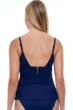 Profile by Gottex Tutti Frutti Navy V-Neck Shirred Tankini Top