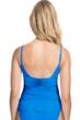 Profile by Gottex Tutti Frutti Blue V-Neck Shirred Tankini Top