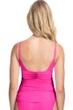 Profile by Gottex Tutti Frutti Pink V-Neck Shirred Tankini Top