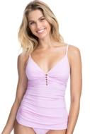 Profile by Gottex Tutti Frutti V-Neck Shirred Tankini Top