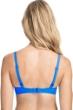 Profile by Gottex Tutti Frutti Blue C-Cup Tie Front Push Up Underwire Bikini Top