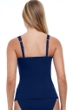 Profile by Gottex Tutti Frutti Navy D-Cup Scoop Neck Shirred Underwire Tankini Top