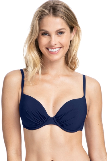 Profile by Gottex Tutti Frutti Navy D-Cup Push Up Underwire Bikini Top