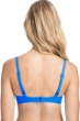 Profile by Gottex Tutti Frutti Blue E-Cup Tie Front Push Up Underwire Bikini Top