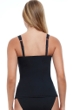 Profile by Gottex Tutti Frutti Black F-Cup Scoop Neck Shirred Underwire Tankini Top