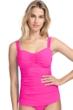 Profile by Gottex Tutti Frutti Pink F-Cup Scoop Neck Shirred Underwire Tankini Top