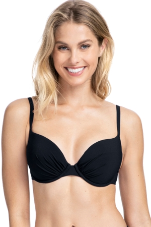 Profile by Gottex Tutti Frutti Black F-Cup Push Up Underwire Bikini Top