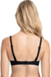 Profile by Gottex Tutti Frutti Black F-Cup Tie Front Push Up Underwire Bikini Top