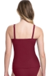 Profile by Gottex Tutti Frutti Merlot G-Cup Scoop Neck Shirred Underwire Tankini Top