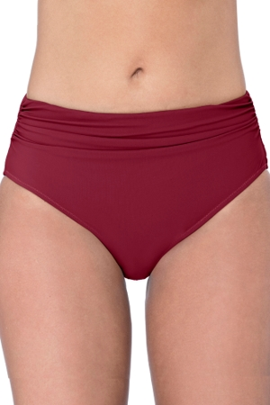 Profile by Gottex Tutti Frutti Merlot Shirred Tankini Bottom