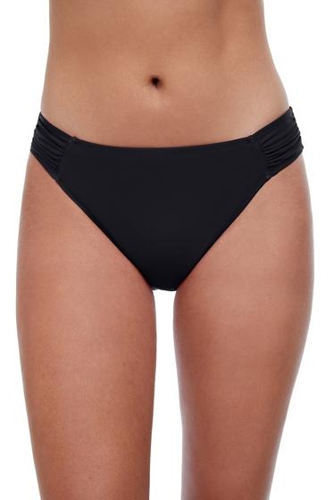 Profile by Gottex Tutti Frutti Black Side Tab Hipster Bikini Bottom